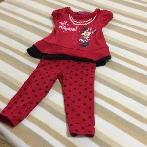 🌺Spring🌺Disney Minnie Mouse Outfit Sz 18M